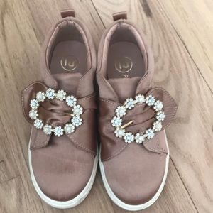 Gorgeous girls sneaker shoe with stones & pearls